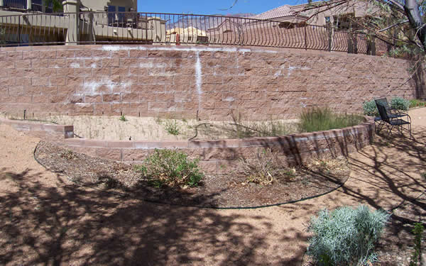 Before Xeriscaping Installation